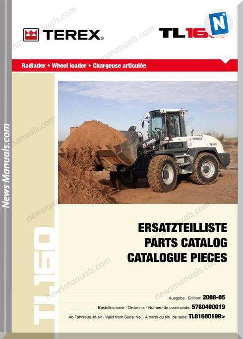 Terex Wheel Loaders Tl160-0199-Mit Bilder Part Manual