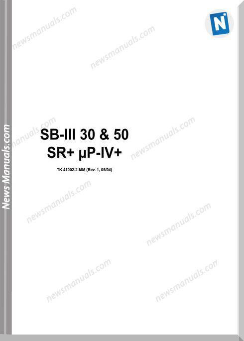 Thermo King Sb-Iii 30 50 Tk 41002-2-Mm Repair Manual