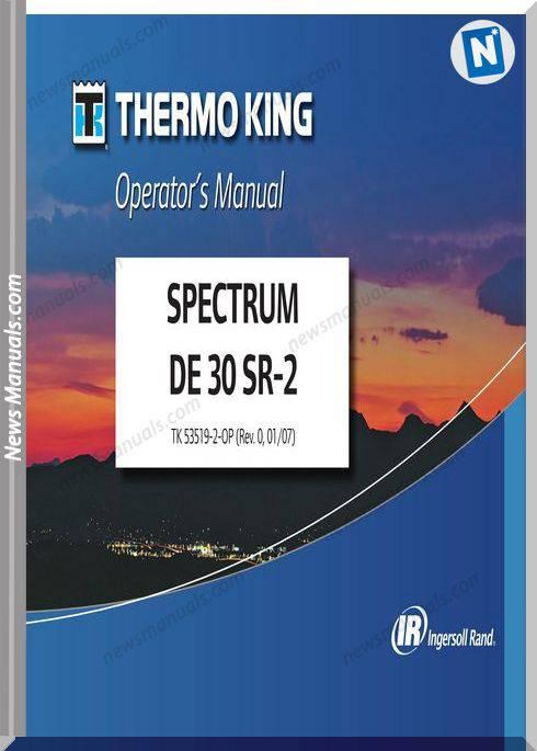 Thermoking Spectrum De 30 Sr-2 53519-2-Operation Manual