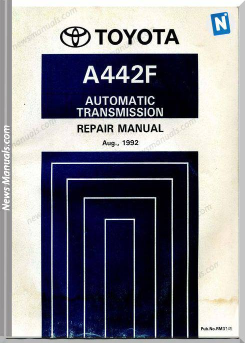 Toyota A442F Automatic Transmisson Repair Manual