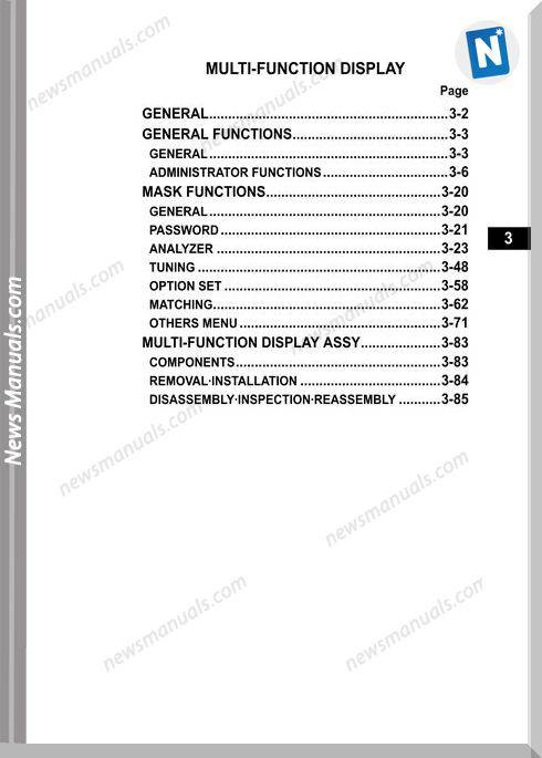 Toyota Bt 8Fbc Section 3 Vol 2 Cu347-1 Repair Manual