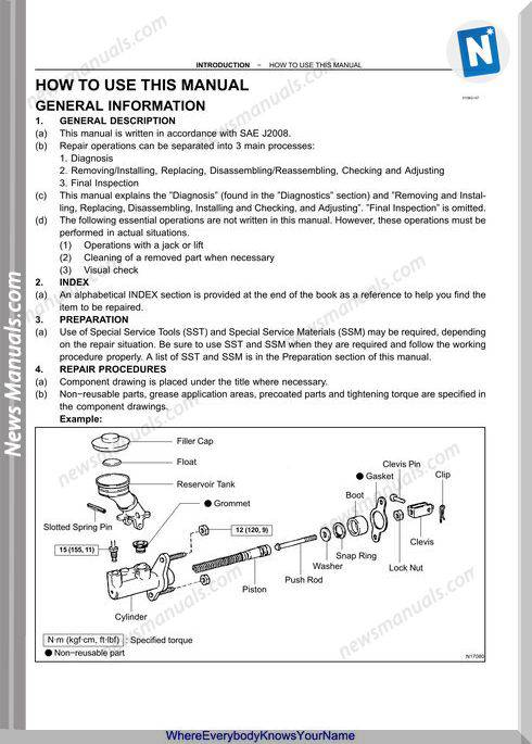 Toyota Camry 2002 2006 Workshop Manual
