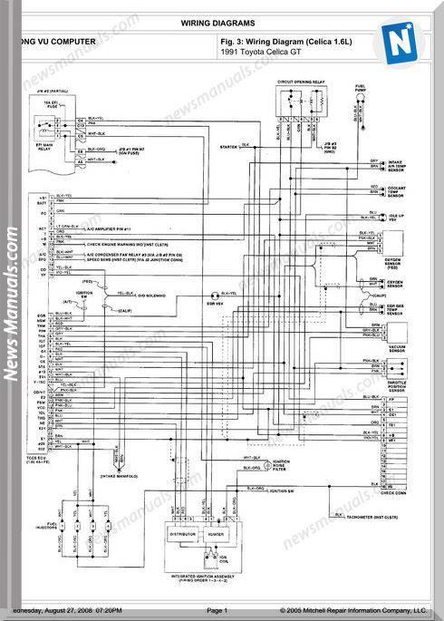 toyota celica gt 1991 engine 4a