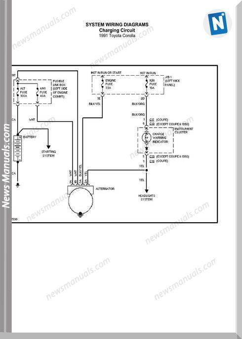 Toyota Corolla 1991 Wiring Diagram