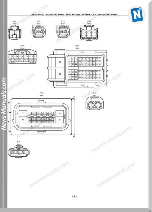 Toyota Corolla 2009 2010 Toyota Electrical Wiring Diagrams
