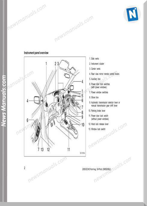 Toyota Echo 2005 Owners Manual