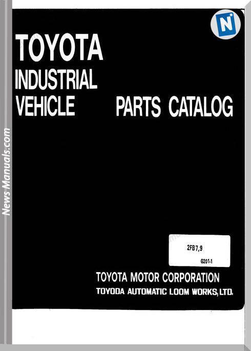Toyota Forklift 2Fb7 2Fb9 English Parts Manual