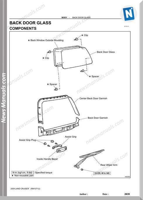 Toyota Land Cruiser 1998 2007 Body Mechanical Repair Manual