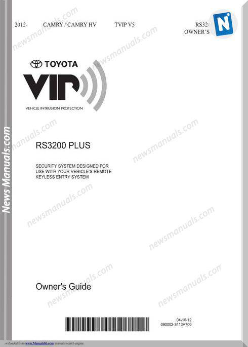 Toyota Rs3200 Plus Owners Manual