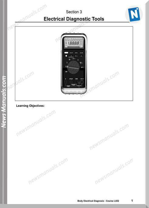 Toyota Series 623 Training Elec013 Diagnostic Tools