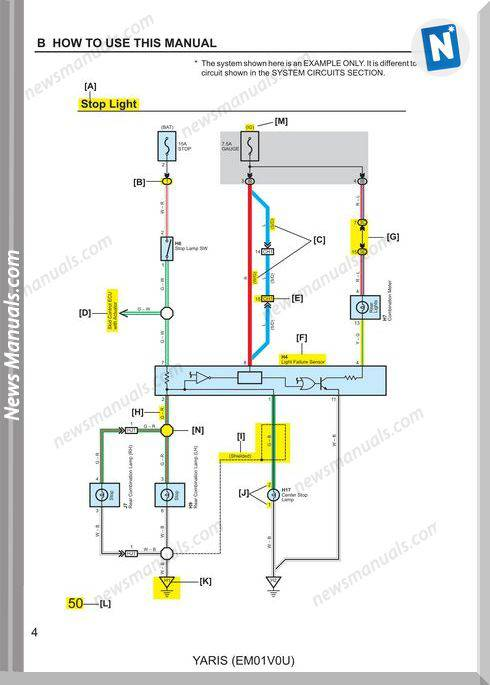 Toyota Yaris 2007 Wiring Diagram