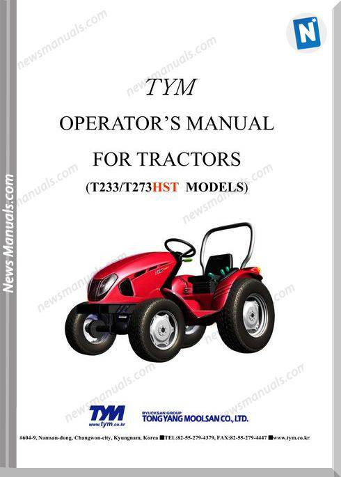 Tym K2-T233273-Hst-Operation-Manual