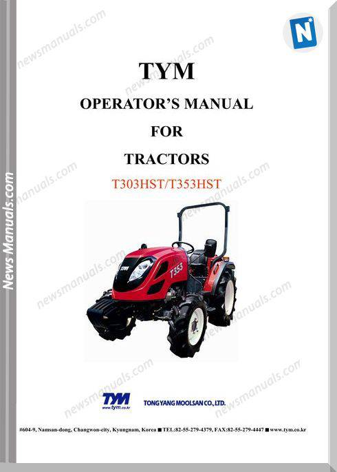 Tym K3-T303353Nh-Operation-Manual