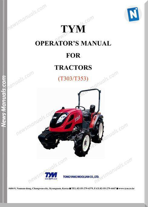 Tym K3-T303T353Nc-Operation-Manual