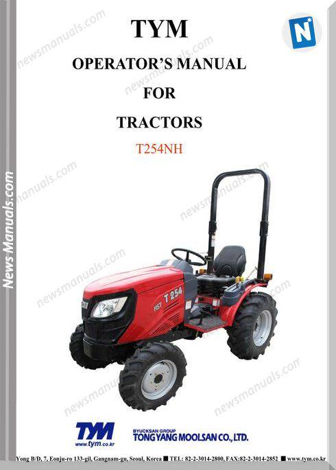 Tym T254Nh Models Operator Manual