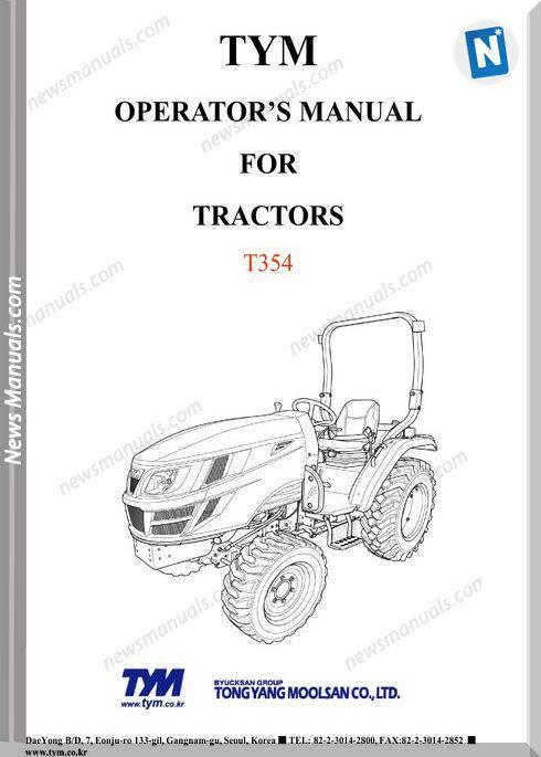 Tym T354 Operator Manual
