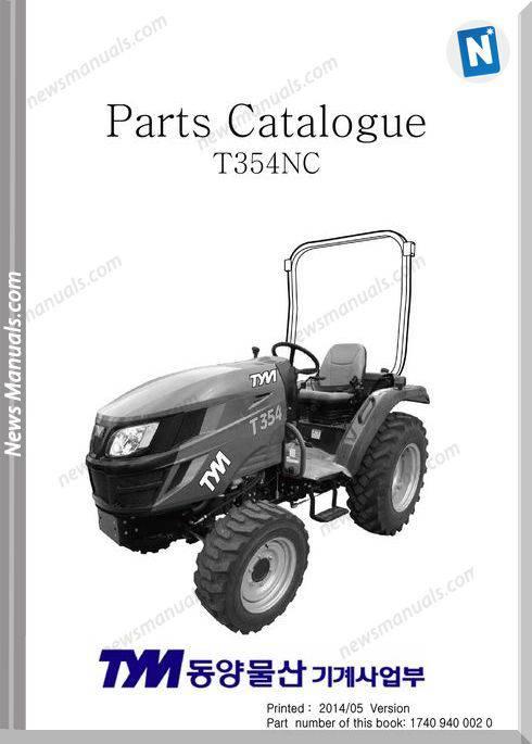 Tym T354Nc Models Parts Catalog