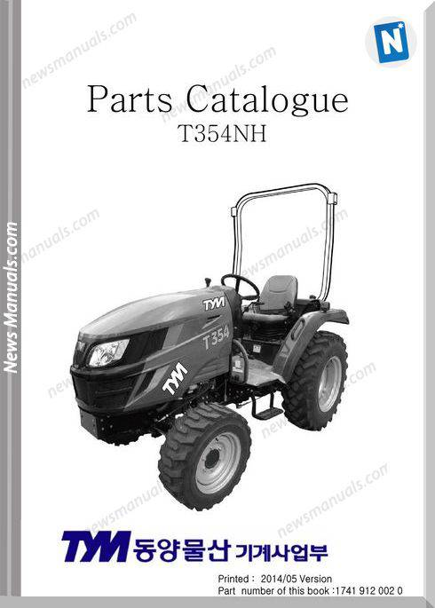 Tym T354Nh Models Parts Manual