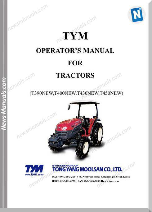 Tym T390400430450-Operation-Manual