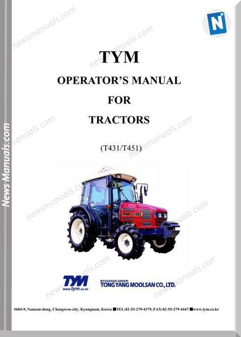 Tym T431451 Models Operation Manual