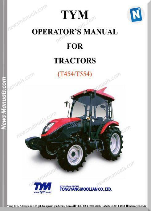 Tym T454T554 Models Operator Manual