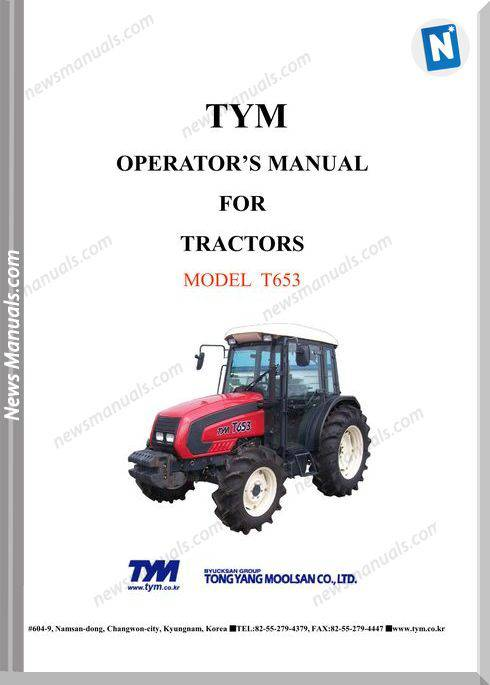 Tym T653 Models Operation Manual