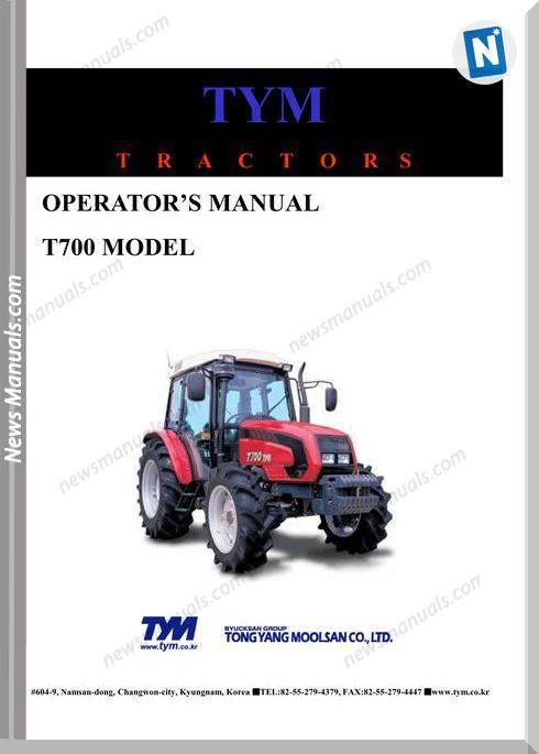 Tym T700 Models Operation Manual