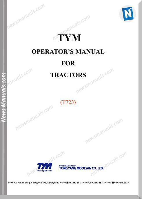 Tym T723 Models Operator Manual