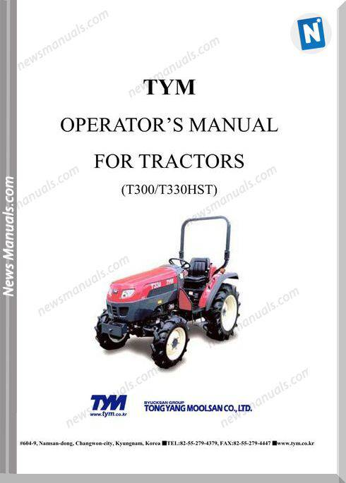 Tym Tractor T300 T330Hst Operation Manual