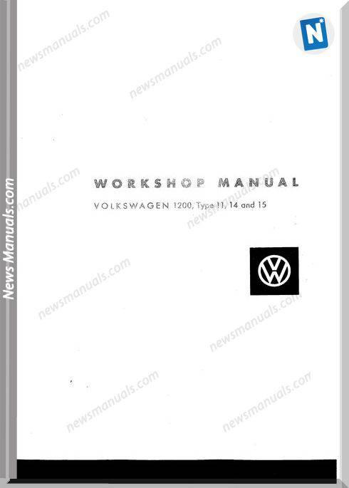 Volkswagen 1200 Type 11 14 15 Workshop Manual