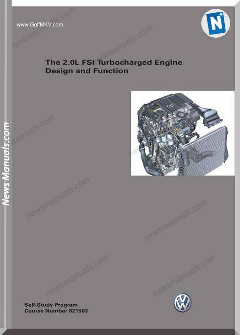 Volkswagen Training The 20L Fsi Turbocharged Engine