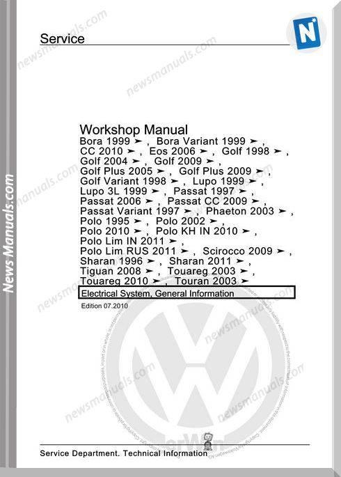 Volkswagen Workshopmanual Bora 1999 2010