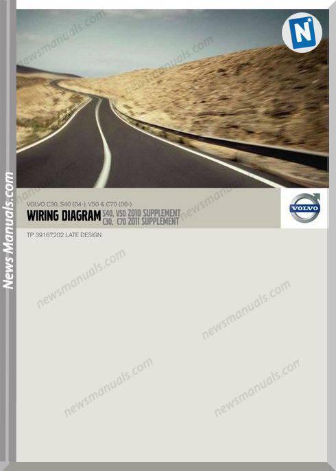 Volvo 2010 Supplement C30 S40 04 V50 C70 06 Wiring Diagram