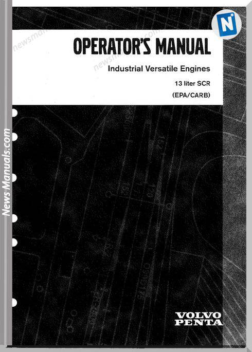 Volvo Engine Scr Epa Carb Operator Manual