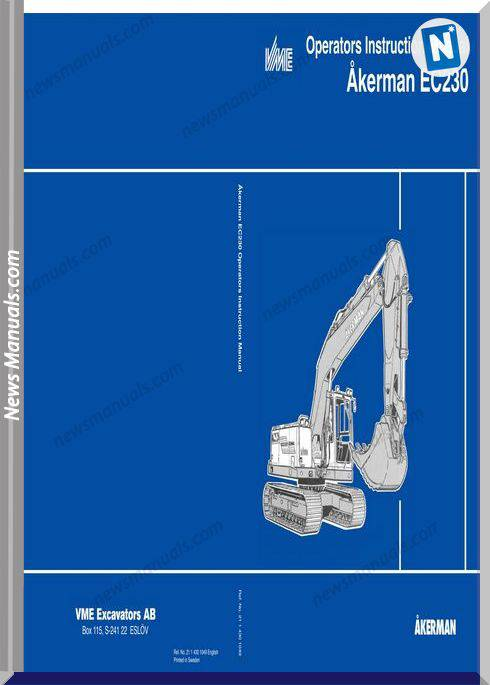 Volvo Excavator Akerman Ec230 Operation Manual
