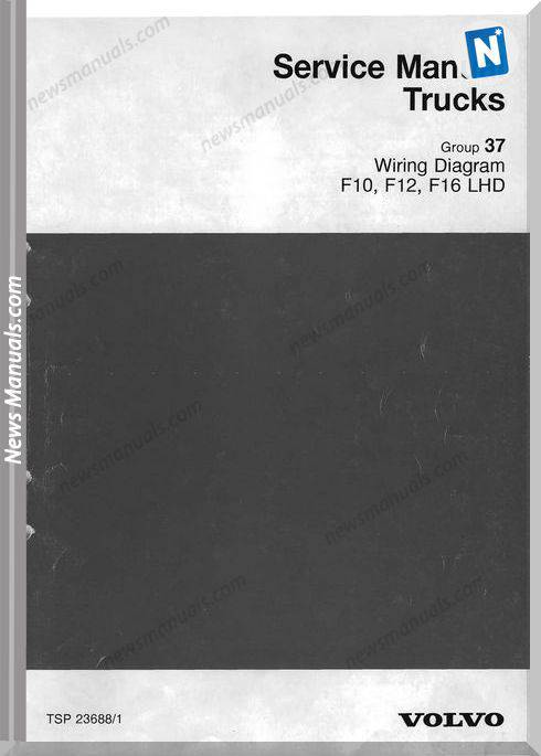 Volvo F10 F12 F16 1998 Service Manuals