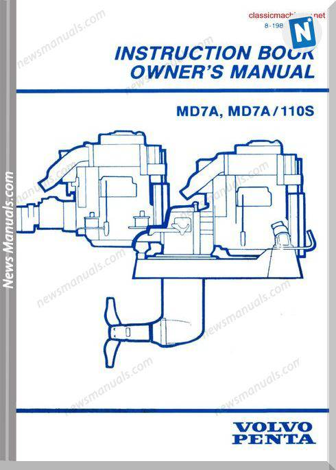 Volvo Penta Md7A Md7A 110S Instruction Book