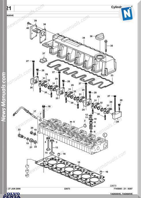 Volvo Penta Tad650Ve Spare Parts Manual