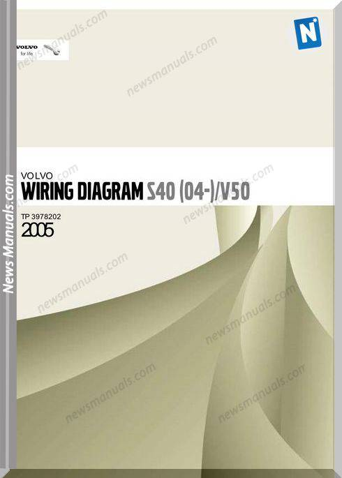 Volvo S40 04 V50 2005 Wiring Diagram