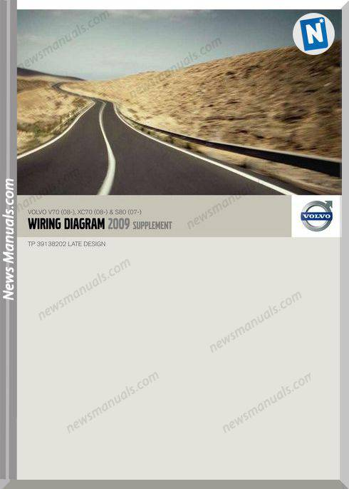 Volvo Supplement V70 08 Xc70 08 S80 07 2009 Wiring Diagram