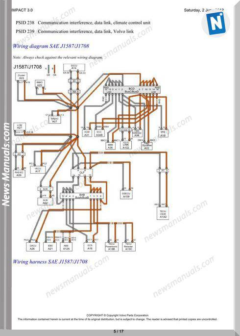 Volvo Truck D13 A Wiring Diagram Link J1939