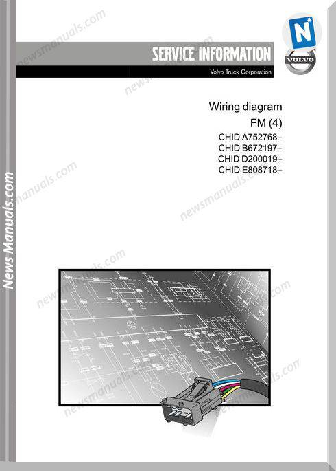 Volvo Truck Fm4 Chid A7 B6 D2 E8 Wiring Diagram