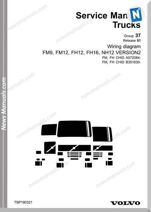 Volvo Truck Fm9 Fm12 Fh12 Fh15 Nh12 Cd2 Wiring Diagram