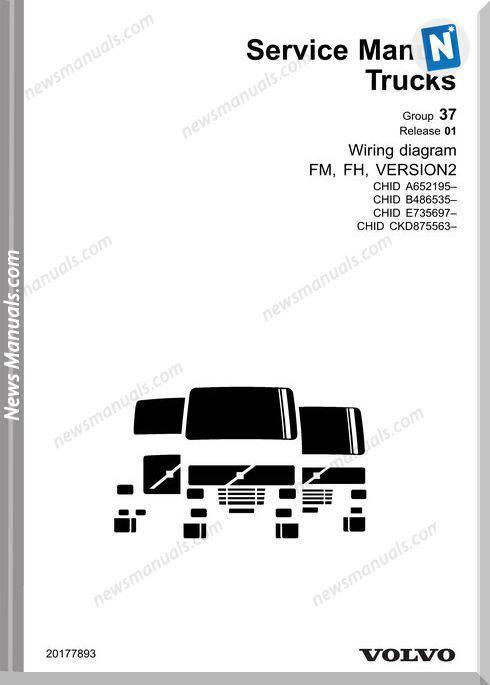 volvo trucks fm fh vers2 a 652195 wiring diagram
