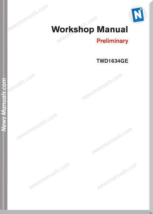 Volvo Twd1643Ge Industrial Engine-Workshop Manual