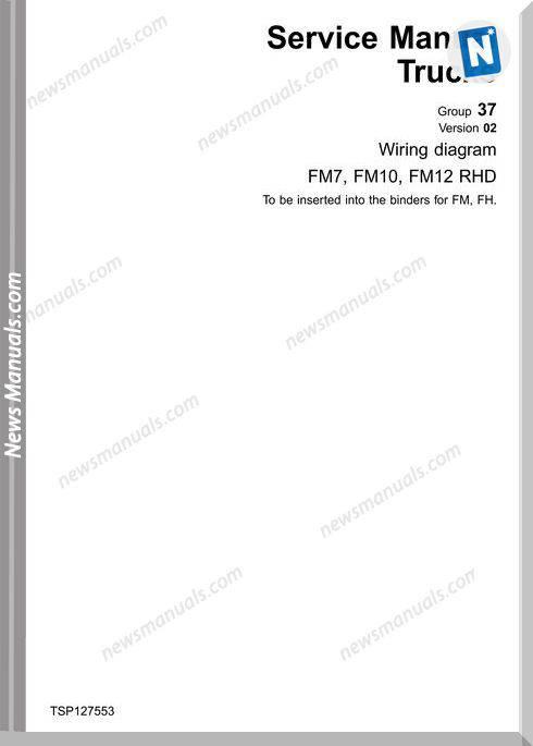 Volvo Wiring Diagram Fm7 Fm10 Fm12 Rhd