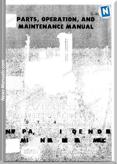 White Fork Lift My60 Parts Om Maintenance Manual S 407