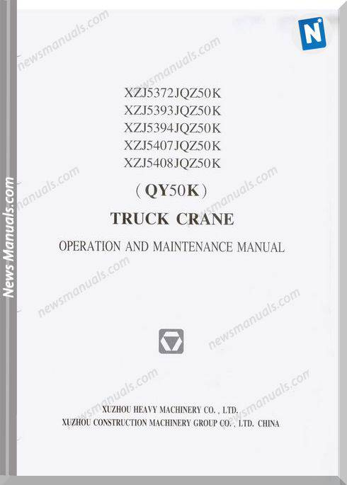 Xcmg Qy50K Truck Crane Operation And Maintenance Manual