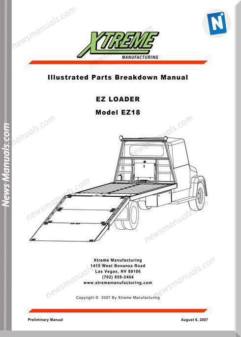 Xtreme Ez Loader Ez18 Parts Manual