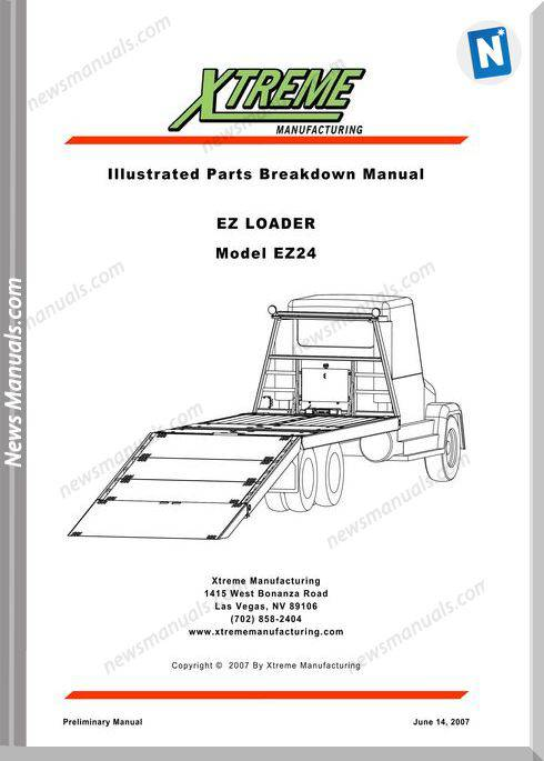 Xtreme Ez Loader Ez24 Parts Manual